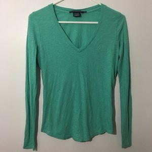 2/$20 Ralph Lauren Sport V Neck Long Sleeve Shirt